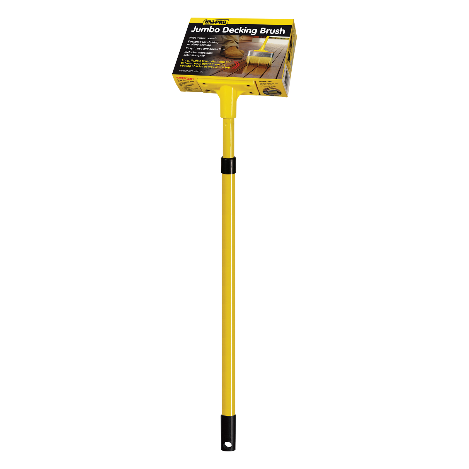 Jumbo Decking Brush (with adjustable pole)