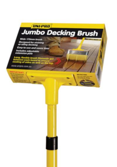 Jumbo Deck &Stain Brush (175mm, Head Only)